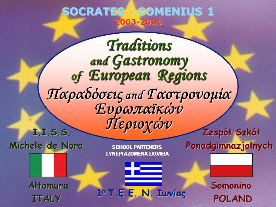 SOCRATES - COMENIUS 1 2003-2006 SCHOOL PARTENERS ΣΥΝΕΡΓΑZOMENA ΣΧΟΛΕΙA 1 ο Τ.Ε.Ε.