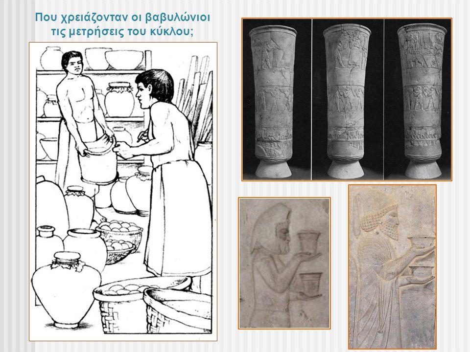 Που χρειάζονταν οι βαβυλώνιοι τις μετρήσεις του κύκλου;