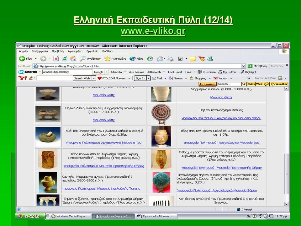 Ελληνική Εκπαιδευτική Πύλη (12/14) www.e-yliko.gr www.e-yliko.gr www.e-yliko.gr