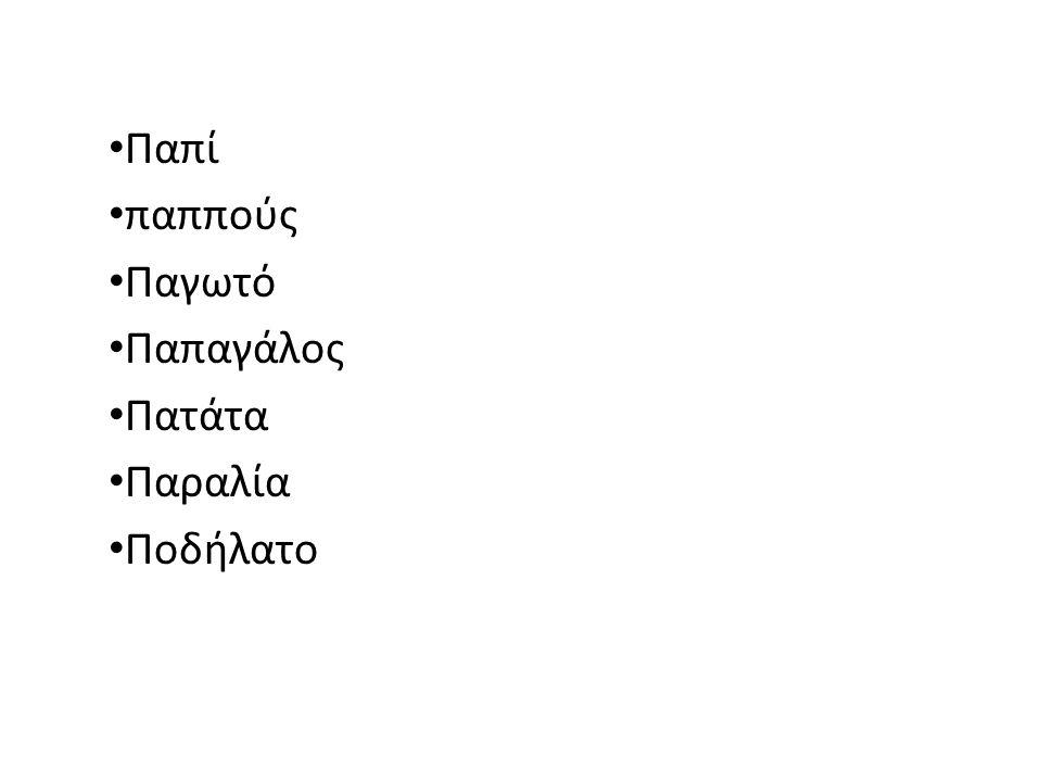 Πάτησε πάνω στο γράμμα Ππ, για να ακούσεις τις περιοχές της Κύπρου που έχουν μέσα το γράμμα αυτό.