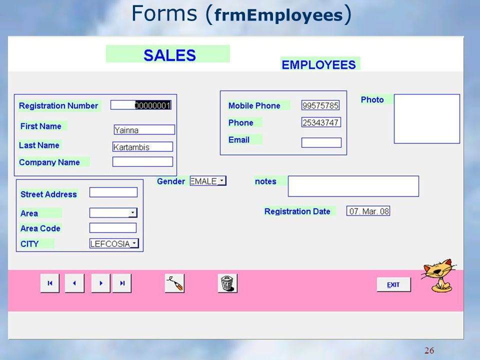 Forms ( frmEmployees ) 26