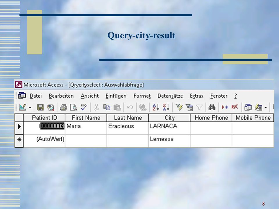 8 Query-city-result