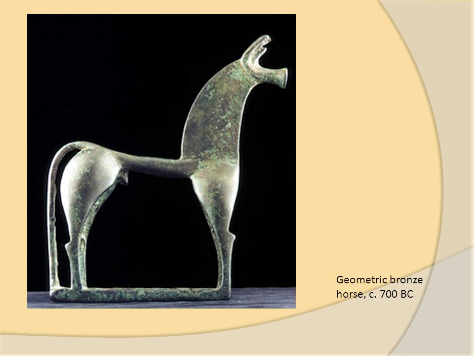Geometric bronze horse, c. 700 BC