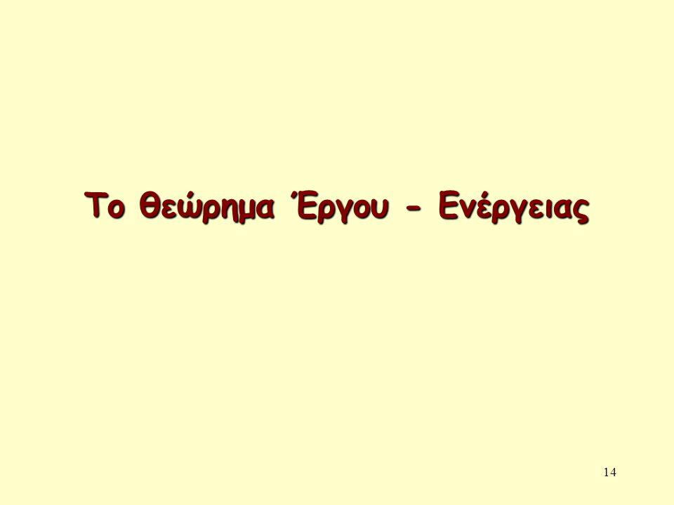 14 Το θεώρημα Έργου - Ενέργειας