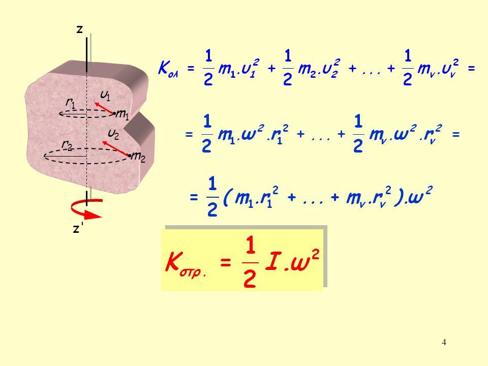 5 Κινητική ενέργεια στερεού σώματος λόγω σύνθετης κίνησης (μεταφορικής και περιστροφικής)