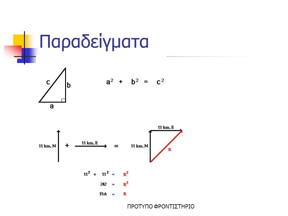 Μεταβολή – Ρυθμός Μεταβολής Τα μεγέθη στη διάρκεια ενός φαινομένου μεταβάλλονται δηλ.