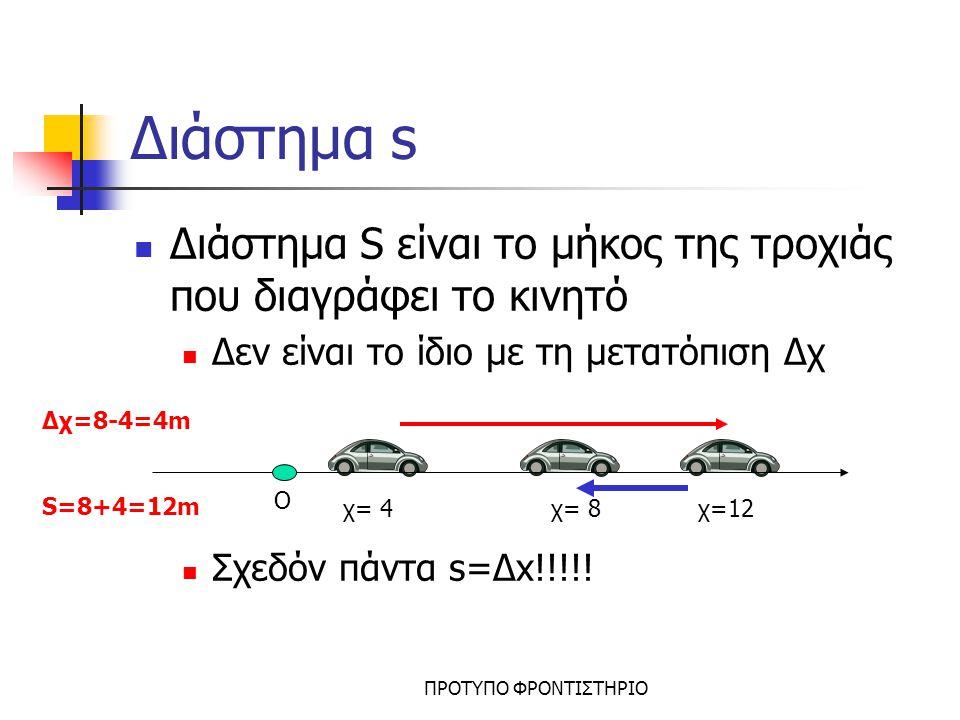 ΠΡΟΤΥΠΟ ΦΡΟΝΤΙΣΤΗΡΙΟ Μέση Ταχύτητα