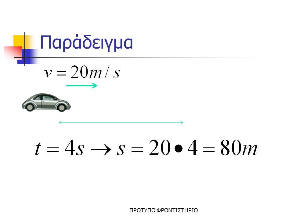 Εξίσωση κίνησης ΠΡΟΤΥΠΟ ΦΡΟΝΤΙΣΤΗΡΙΟ