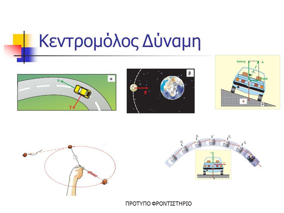 Παράδειγμα ΠΡΟΤΥΠΟ ΦΡΟΝΤΙΣΤΗΡΙΟ R Σώμα δεμένο σε νήμα περιστρέφεται σε οριζόντιο επίπεδο