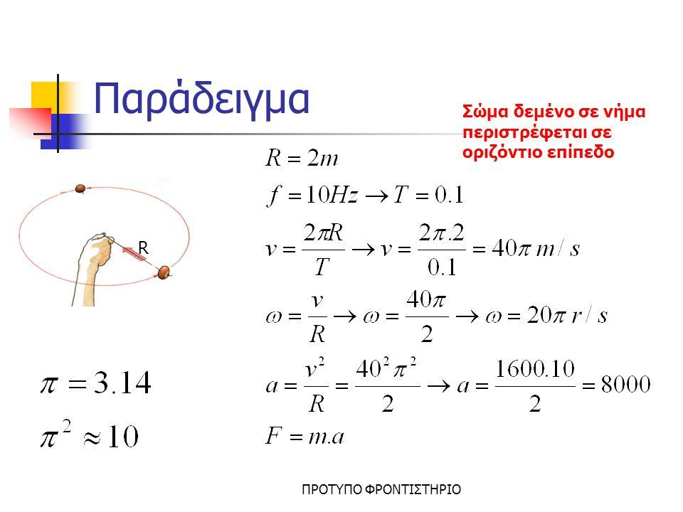Ορμή Ορισμός: Διανυσματικό μέγεθος το οποίο είναι ίσο με το γινόμενο της μάζας επί την ταχύτητα Κατεύθυνση της ταχύτητας Μέτρο= ΜάζαxΤαχύτητα P=m.u Μονάδα: 1kgr.m/sec Σύστημα Σωμάτων: Όταν θεωρούμε δύο σώματα σαν ένα Υπολογισμός Ορμής Συστήματος Σωμάτων Ορίζουμε θετική φορά Η ορμή του συστήματος είναι το άθροισμα των ορμών του κάθε σώματος Pολ=P1+P2 Αν κάποια ορμή έχει αντίθετη φορά από τη θετική τότε βγαίνει με – ΠΡΟΤΥΠΟ ΦΡΟΝΤΙΣΤΗΡΙΟ