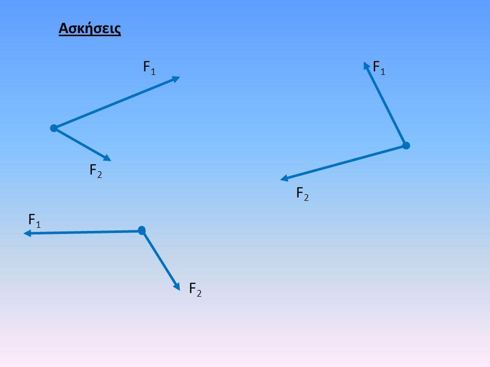 Ασκήσεις F2F2 F1F1 F2F2 F1F1 F2F2 F1F1