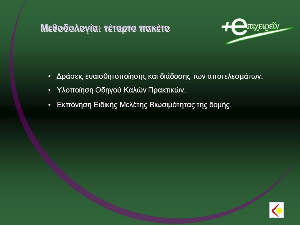 Μεθοδολογία: τέταρτο πακέτο Δράσεις ευαισθητοποίησης και διάδοσης των αποτελεσμάτων.