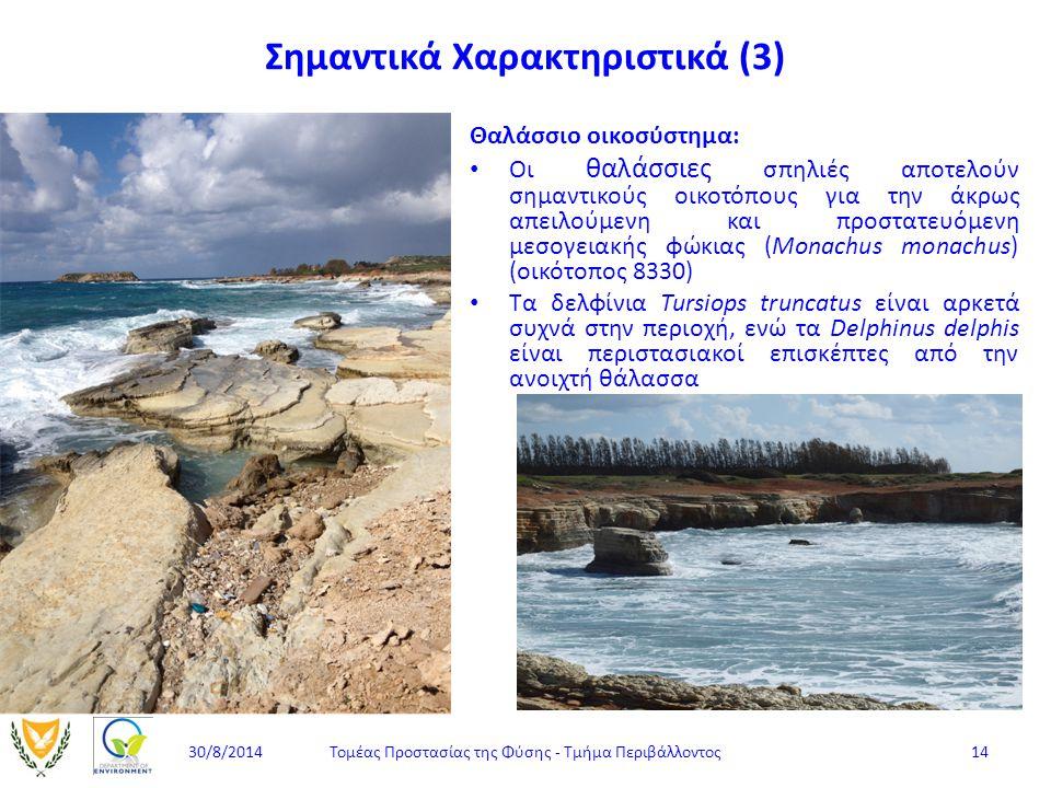 Θαλάσσιο οικοσύστημα: Οι θαλάσσιες σπηλιές αποτελούν σημαντικούς οικοτόπους για την άκρως απειλούμενη και προστατευόμενη μεσογειακής φώκιας (Monachus