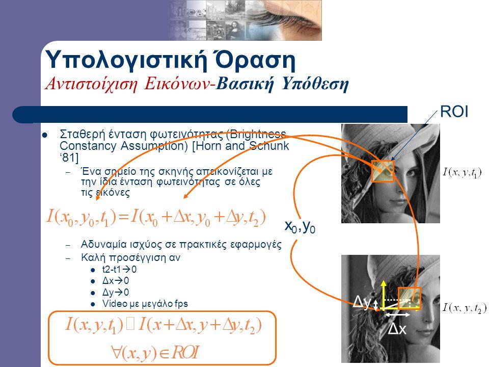 Δοθέντων δύο εικόνων, – ποια είναι τα αντίστοιχα σημεία τους; Αντίστοιχα σημεία: προβολές του ίδιου σημείου της σκηνής στις εικόνες – ποιος είναι ο μετασχηματισμός, που εφαρμοζόμενος στη μία εικόνα, παρέχει την άλλη; Η γεωμετρία του χώρου και ο προσανατολισμός του(ων) αισθητήρα(ων) όρασης δεν είναι γνωστά .
