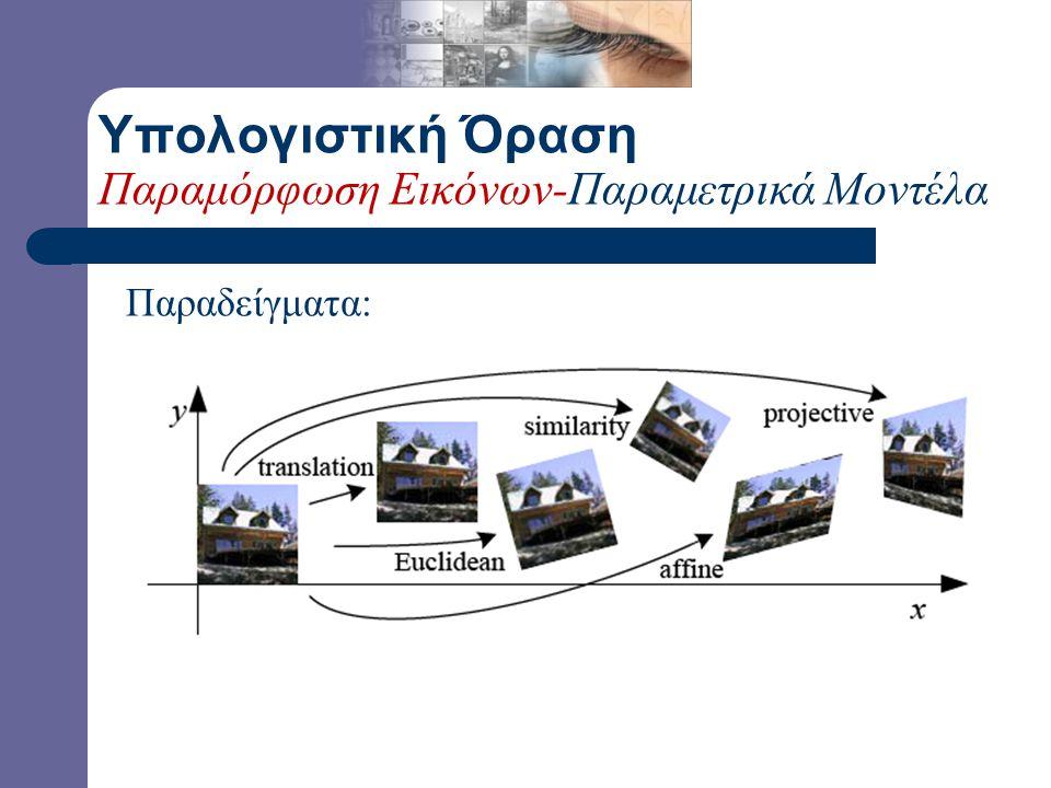 T (.) Υπολογιστική Όραση Παραμόρφωση Εικόνων