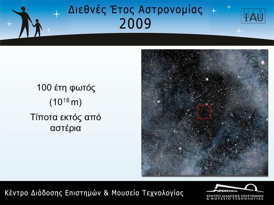 100 έτη φωτός (10 18 m) Τίποτα εκτός από αστέρια