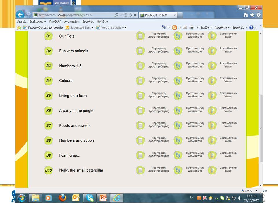  Πρέπει να κάνω όλες τις δραστηριότητες;  Α΄ κύκλος: εισαγωγικός  Β΄ κύκλος: βασικό λεξιλόγιο, βασικές δομές  Γ΄ & Δ' κύκλος: επιλογή  Ε΄ κύκλος: εποχιακές δραστηριότητες – επιλογή (Χριστουγεννιάτικη – Πασχαλινή) 28 Προγραμματισμός – Βασικά ερωτήματα