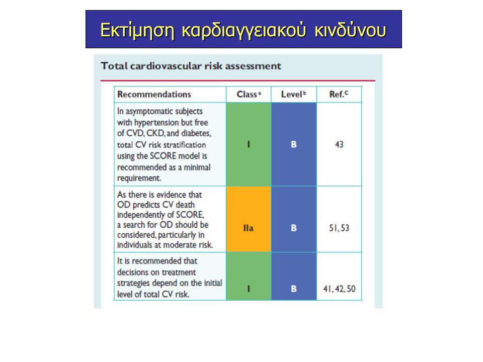 Ασθενείς με εγκατεστειμένη καρδιαγγειακή νόσο θα πρέπει να λαμβάνουν υπολιπιδαιμική αγωγή με υψηλές δόσεις στατινών (high-intensity statin therapy) ( ένδειξη Ι Α)