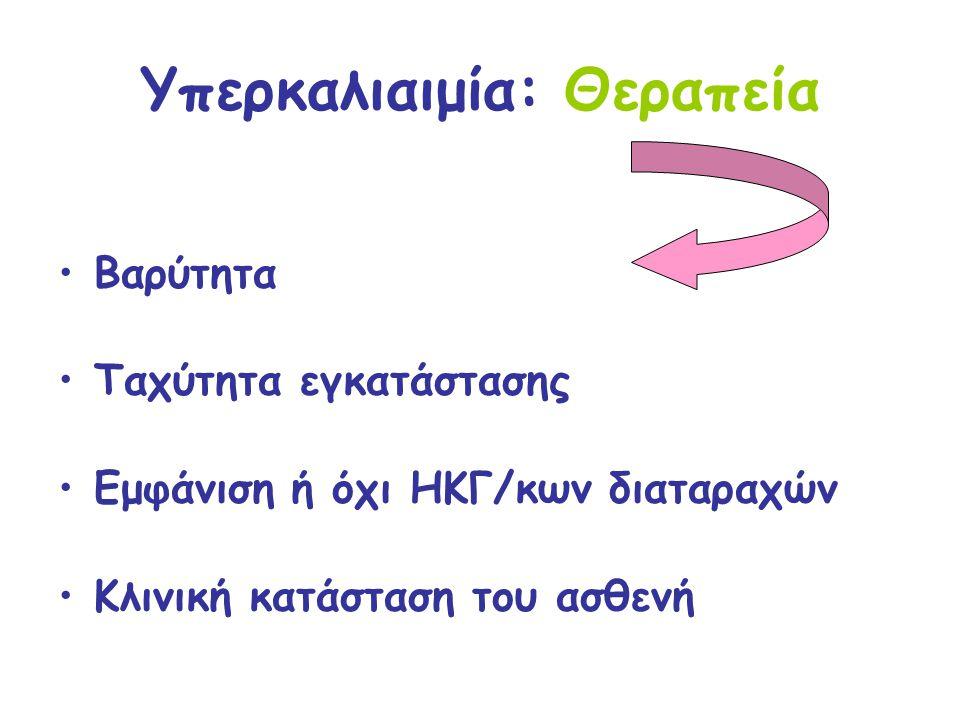 Υπερκαλιαιμία: Θεραπεία Ερωτήματα- κλειδιά: Πρόκειται για αληθή υπερκαλιαιμία.