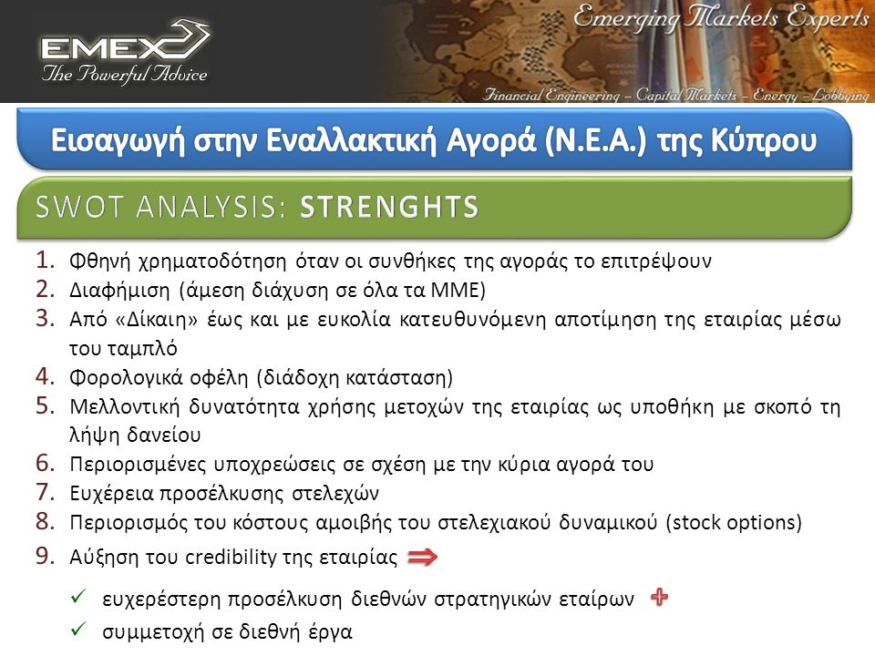 SWOT ANALYSIS : STRENGHTS