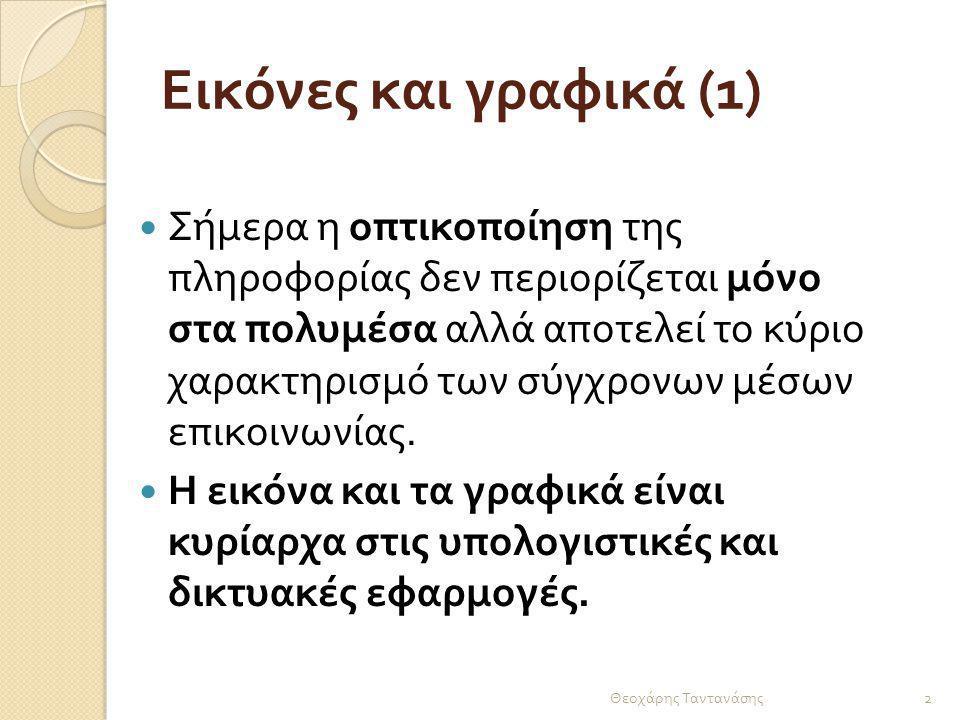 Εικόνες και γραφικά (2) Θεοχάρης Ταντανάσης 3 Οι παλαιότεροι υπολογιστές δεν είχαν γραφικό περιβάλλον διεπαφής.