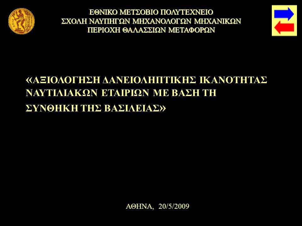 Προτάσεις Προτάσεις Περιοχή Θαλασσιών Μεταφορών, Σχολή Ναυπηγών Μηχανολόγων Μηχανικών ΕΜΠ 32 1.Διαδικασία των Standards 2.