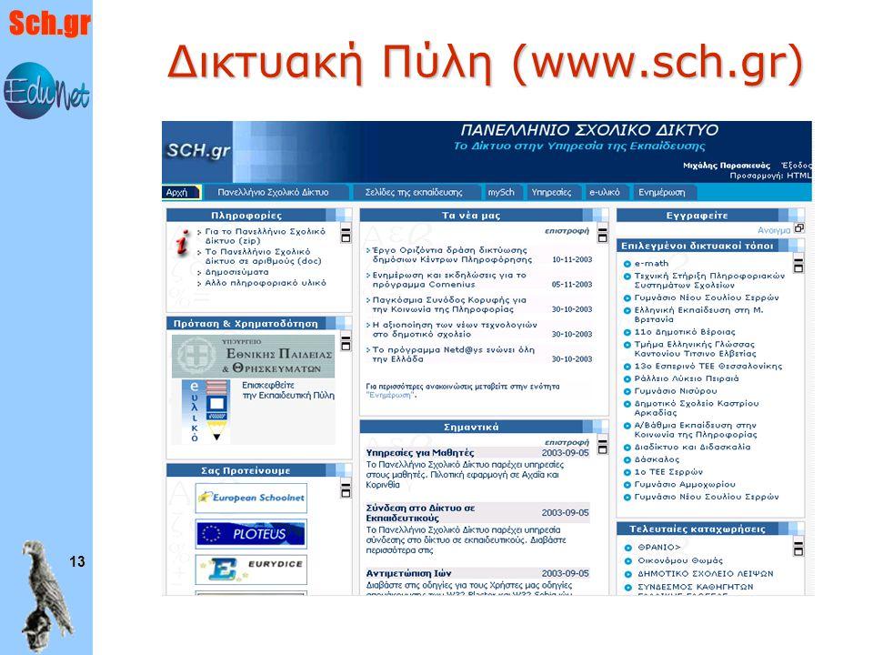 Sch.gr 13 Δικτυακή Πύλη (www.sch.gr)