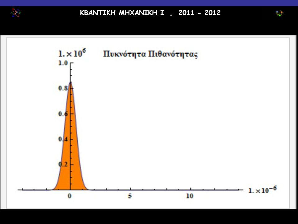 ΚΒΑΝΤΙΚΗ ΜΗΧΑΝΙΚΗ Ι, 2011 - 2012 Α. Λαχανάς30 / 10 / 2011 3:12:37 PM 19