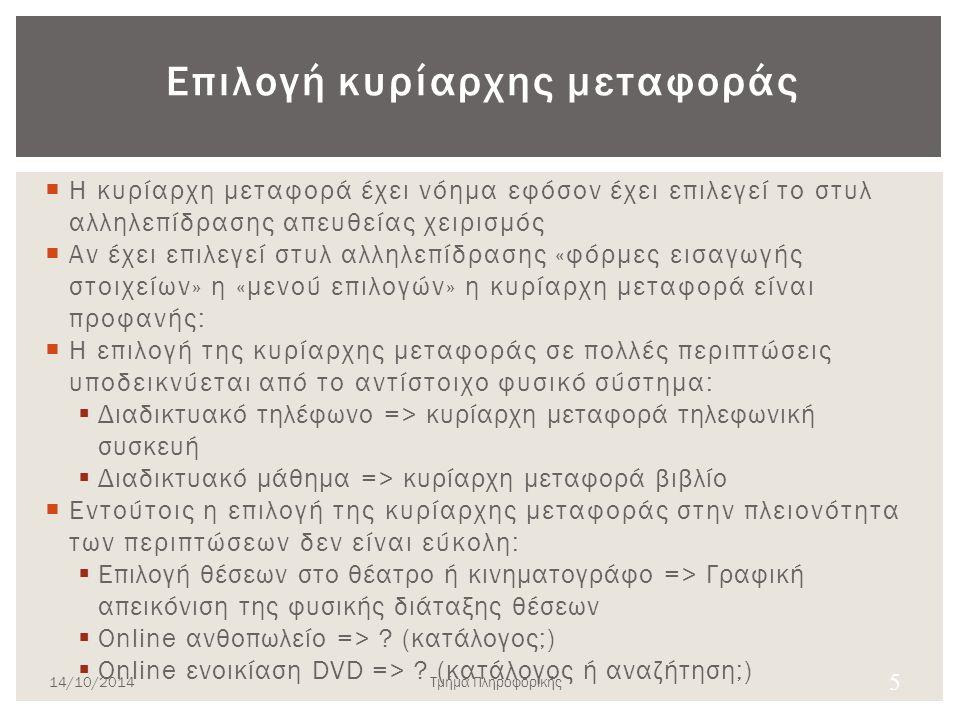 Παράδειγμα 4 14/10/2014Τμήμα Πληροφορικής