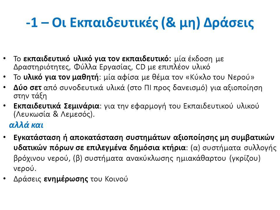 -1 – Οι Εκπαιδευτικές (& μη) Δράσεις Το εκπαιδευτικό υλικό για τον εκπαιδευτικό: μία έκδοση με Δραστηριότητες, Φύλλα Εργασίας, CD με επιπλέον υλικό Το