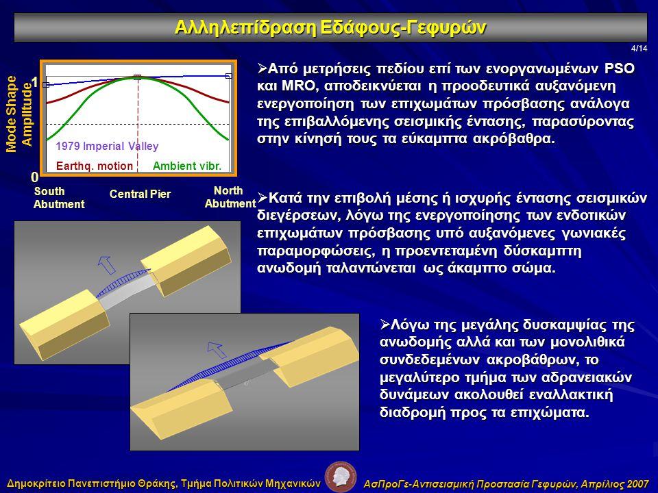 1.«Bridge-Embankment Interaction Under Transverse Ground Excitation» Kotsoglou A.