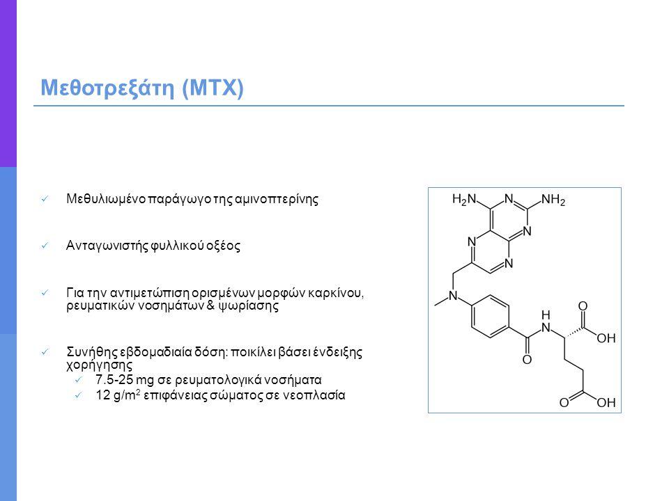 Μεθυλιωμένο παράγωγο της αμινοπτερίνης Ανταγωνιστής φυλλικού οξέος Για την αντιμετώπιση ορισμένων μορφών καρκίνου, ρευματικών νοσημάτων & ψωρίασης Συν