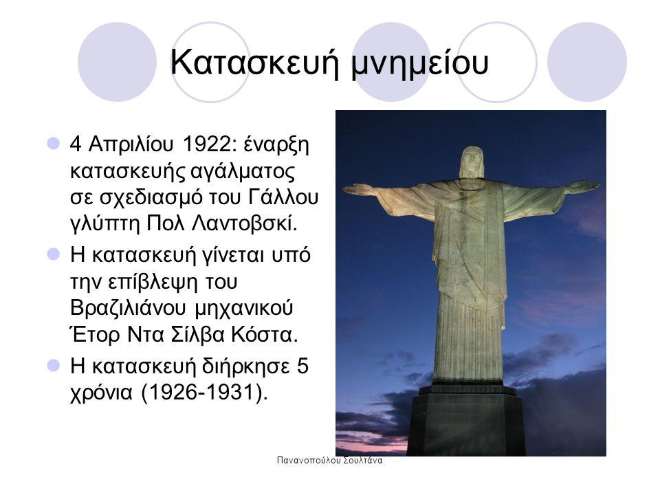 Πανανοπούλου Σουλτάνα Κατασκευή μνημείου 4 Απριλίου 1922: έναρξη κατασκευής αγάλματος σε σχεδιασμό του Γάλλου γλύπτη Πολ Λαντοβσκί.