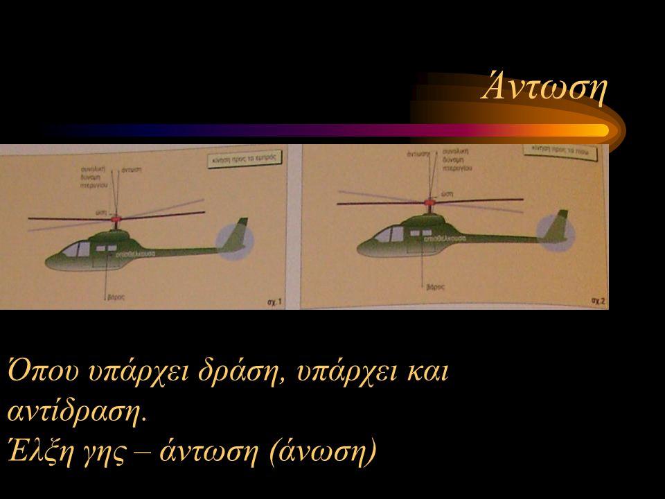Επιπτώσεις Το ελικόπτερο εξαρτάται από τον άνθρωπο. Γι' αυτό χρειάζεται...