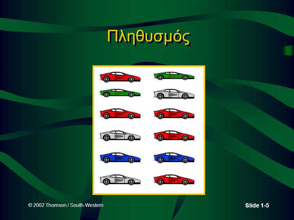 © 2002 Thomson / South-Western Slide 1-16 Παράδειγμα Ονομαστικής Μέτρησης
