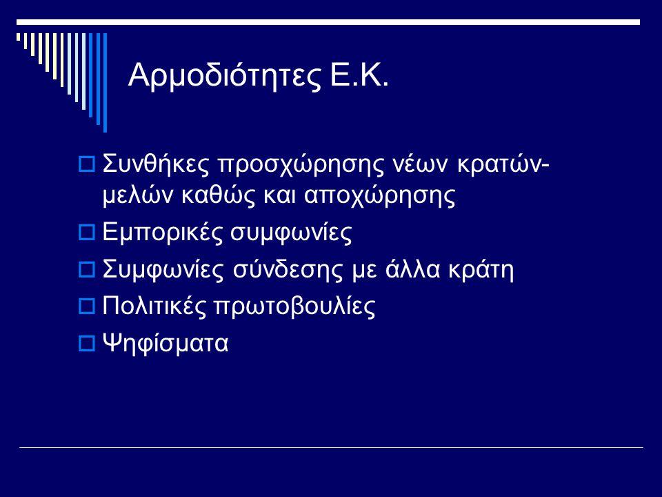 Αρμοδιότητες Ε.Κ.