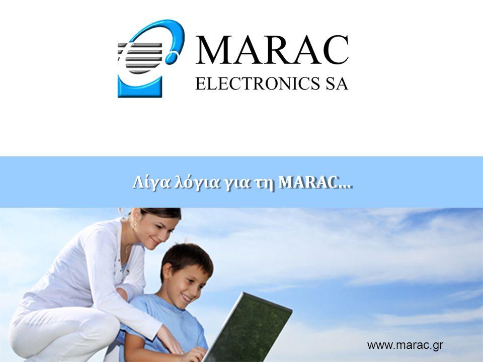 Παρουσίαση: ………………………….. ………….@marac.gr www.marac.gr Λίγα λόγια για τη MARAC… www.marac.gr
