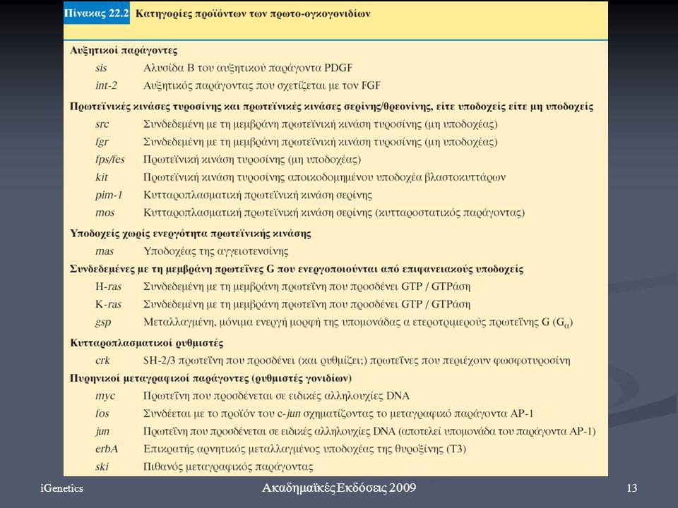 iGenetics 13 Ακαδημαϊκές Εκδόσεις 2009