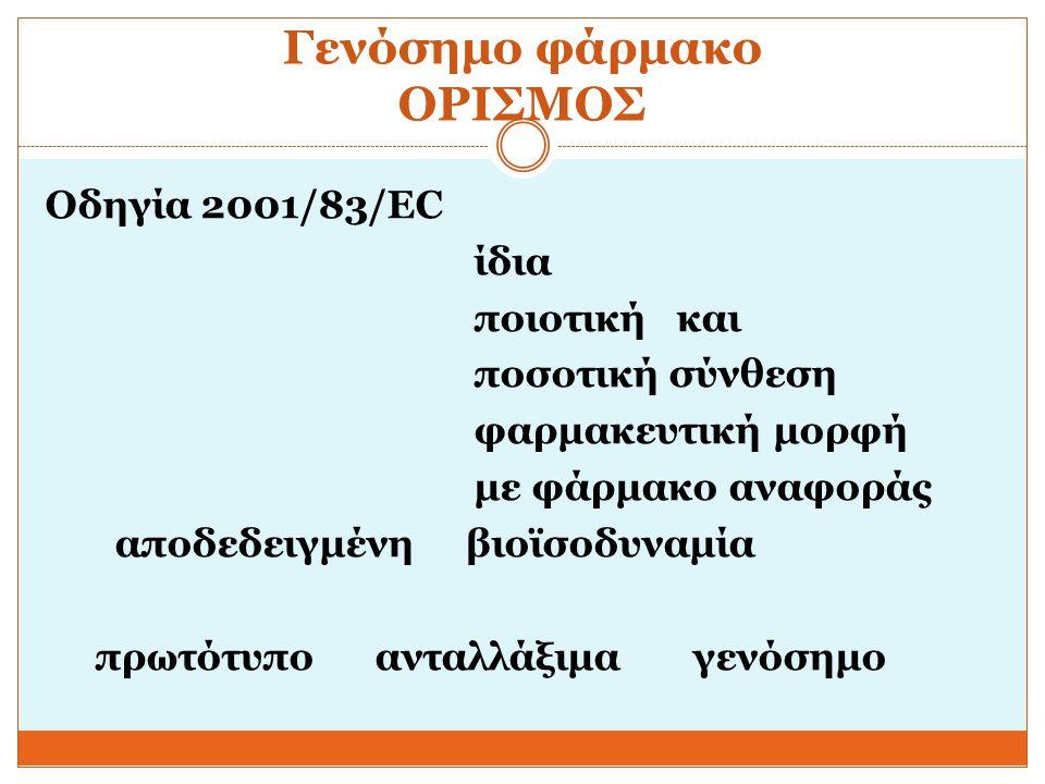 Ανοσογονικότης-κλινικές συνέπειες περίπτωση ερυθροποιητίνης- PRCA 45 ανασυνδυασμένη ερυθροποιητίνη rHuEPO Αντικατάσταση αλβουμίνης με polysorbate 80 στη διαδικασία παραγωγής (μόνο Ευρώπη) Νέο προϊόν : αντισώματα έναντι rHuEPO και ενδογενούς 1998- 2003 υποδόρια απλασία ερυθροκυττάρων pure red cell aplasia PRCA 2/10 000 (ανάγκη για μεταγγίσεις) Διαπίστωση : Με Φαρμακοεπαγρύπνηση Με κλινική μελέτη > 3000 ασθενείς για στατιστικά αξιολογήσιμα στοιχεία Bioanalysis March 2013, Vol.