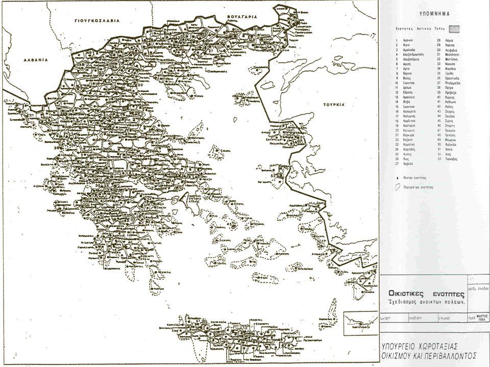 Ειδικές κατηγορίες περιοχών Ορεινές περιοχές Νησιωτικές περιοχές Αστικές-Μητροπολιτικές περιοχές (κατηγοριοποίηση των ΟΤΑ) Φαινόμενα εξάρτησης Στόχος: Αυτονομία και Αυτοδυναμία Πολιτική της ΕΕ και εθνική πολιτική