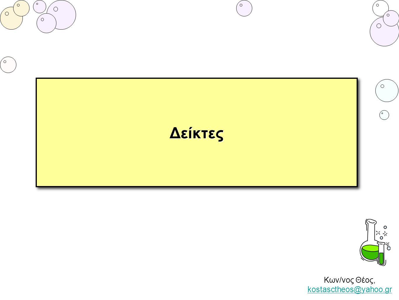 Κων/νος Θέος, kostasctheos@yahoo.gr kostasctheos@yahoo.grΔείκτεςΔείκτες