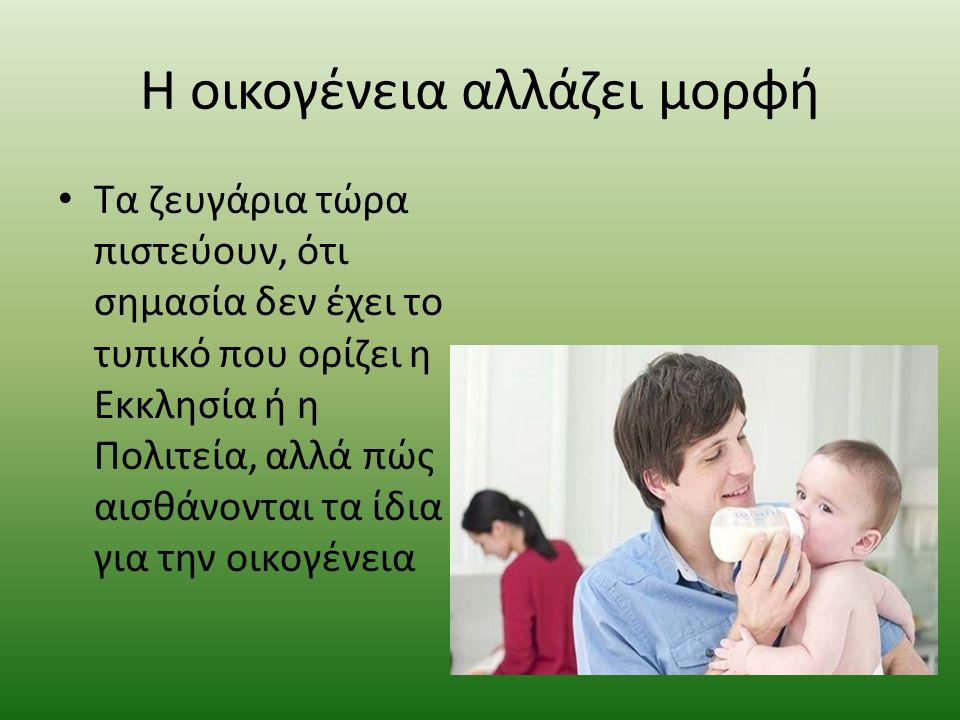 Οικογένεια Tο θηλυκό αναλαμβάνει τη φροντίδα του σπιτιού και την ανατροφή των παιδιών