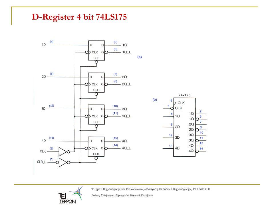 D-Register 4 bit 74LS175
