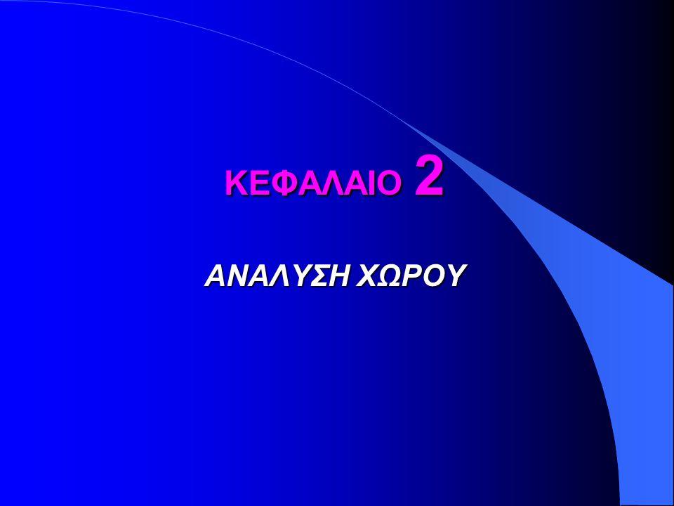 ΚΕΦΑΛΑΙΟ 2 ΑΝΑΛΥΣΗ ΧΩΡΟΥ
