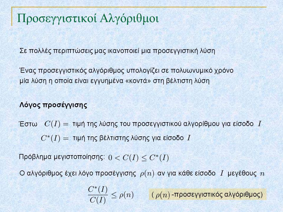 Προσεγγιστικό σύστημα για το πρόβλημα του Σακιδίου TexPoint fonts used in EMF.