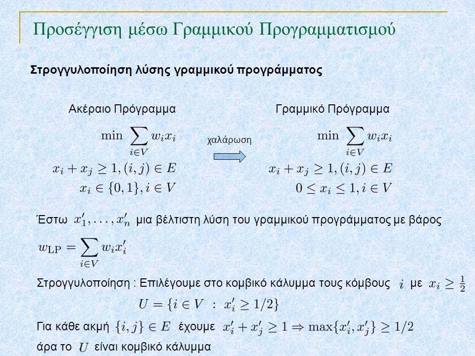 Προσέγγιση μέσω Γραμμικού Προγραμματισμού TexPoint fonts used in EMF. Read the TexPoint manual before you delete this box.: AA A AA A A Έστω μια βέλτι