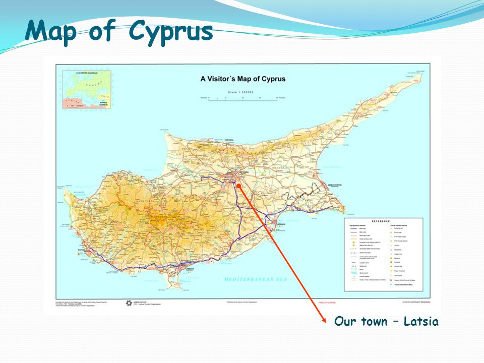 Map of Cyprus Our town – Latsia