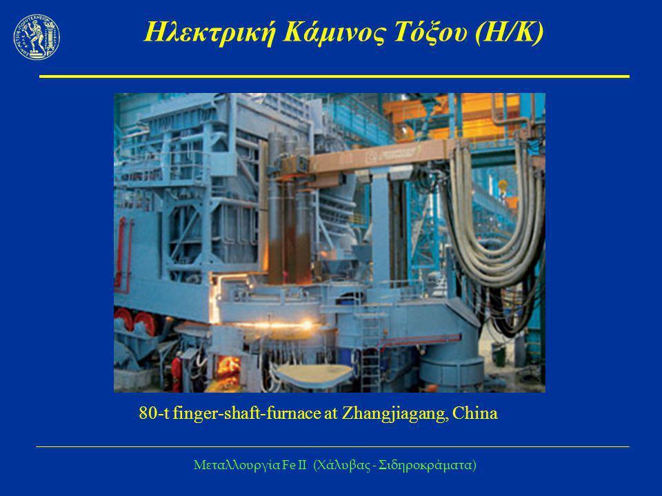 Μεταλλουργία Fe IΙ (Χάλυβας - Σιδηροκράματα) Ηλεκτρική Κάμινος Τόξου (Η/Κ) 80-t finger-shaft-furnace at Zhangjiagang, China