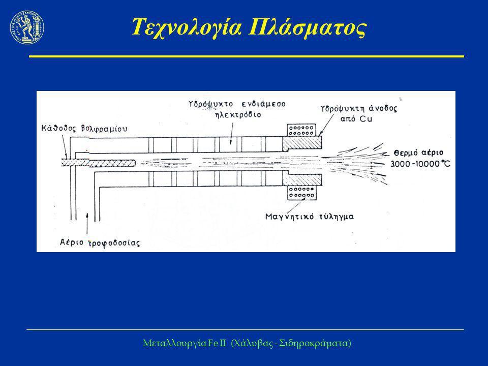 Μεταλλουργία Fe IΙ (Χάλυβας - Σιδηροκράματα) Τεχνολογία Πλάσματος