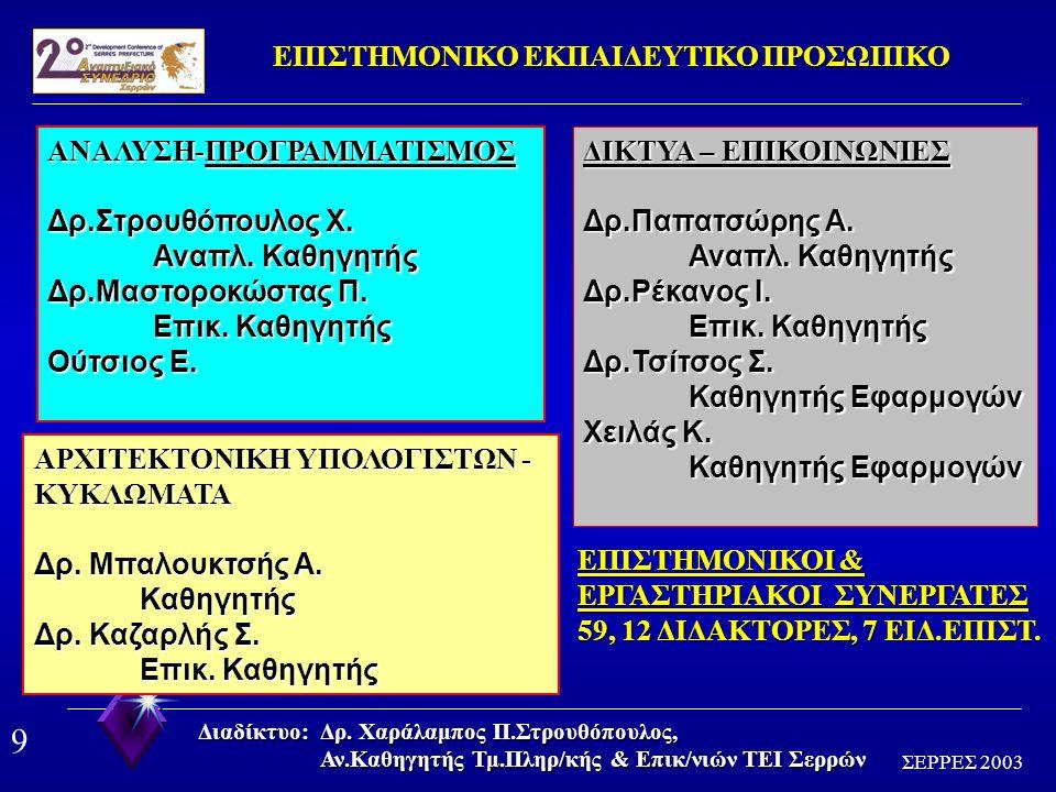 9 ΣΕΡΡΕΣ 2003 Διαδίκτυο: Δρ.